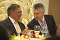 Defense.gov News Photo 120602-D-BW835-419 - Secretary of Defense Leon E. Panetta talks with Australian Minister of Defense Stephen Smith during lunch at the Shangri-La Dialogue in Singapore on.jpg