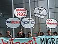 Demonstration signs - Shut Down FRONTEX Warsaw 2008.jpg