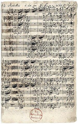 Der Geist hilft unser Schwachheit auf, BWV 226 - Manuscript