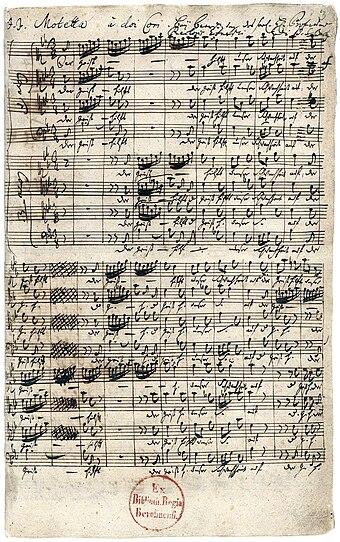der geist hilft unser schwachheit auf bwv 226 komponiert von johann sebastian bach