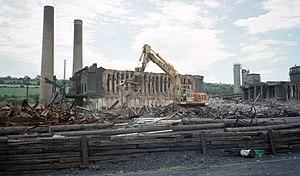 Derwenthaugh Coke Works - Image: Derwenthaugh Coke Works Demolition 01