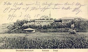 Avricourt, Moselle - Image: Deutsch avricourt um 1915