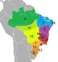 Dialectos portugués Brasil
