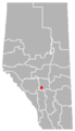 Dickson, Alberta Location.png