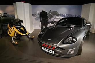 Die Another Day - Aston Martin V12 Vanquish and Bombardier MX Rev Ski-Doo used in the movie