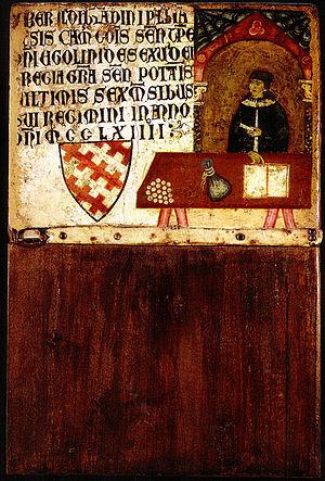 Biccherna - Image: Dietisalvi di speme, Tavoletta di biccherna del camarlengo Ildebrandino Pagliaresi, 1264