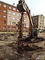Digging Lielā iela in Jelgava (Mitau). 68 years after capital of Kurland was burned by Russian aviation. Former site of police station - panoramio.jpg