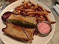 Dinner - toast burger and fries.jpg