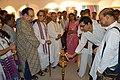 Dipak Kumar Chakraborty Lighting Inaugural Lamp - Biswatosh Sengupta Solo Exhibition - Kolkata 2015-07-28 3324.JPG