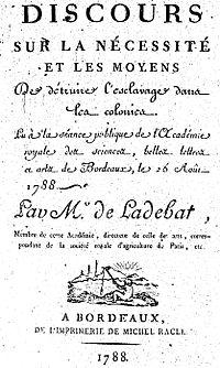 Traite négrière à Bordeaux — Wikipédia