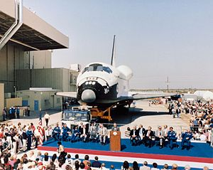 Space Shuttle Discovery - Discovery rollout ceremony in October 1983