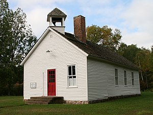 National Register of Historic Places listings in Pine County, Minnesota - Image: District 74 School Danforth MN 2