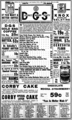 District Grocery Stores Advertisement published in the Evening Star on November 11, 1921.png