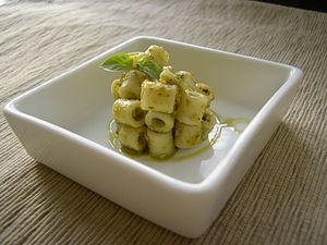 Ditalini - Image: Ditalini pesto appetizer
