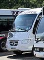 Dochertys Midland Coaches coach (SP06 FBG) 2006 Mercedes-Benz 815D (Vario) Sitcar, Auchterarder depot, 1 May 2011.jpg
