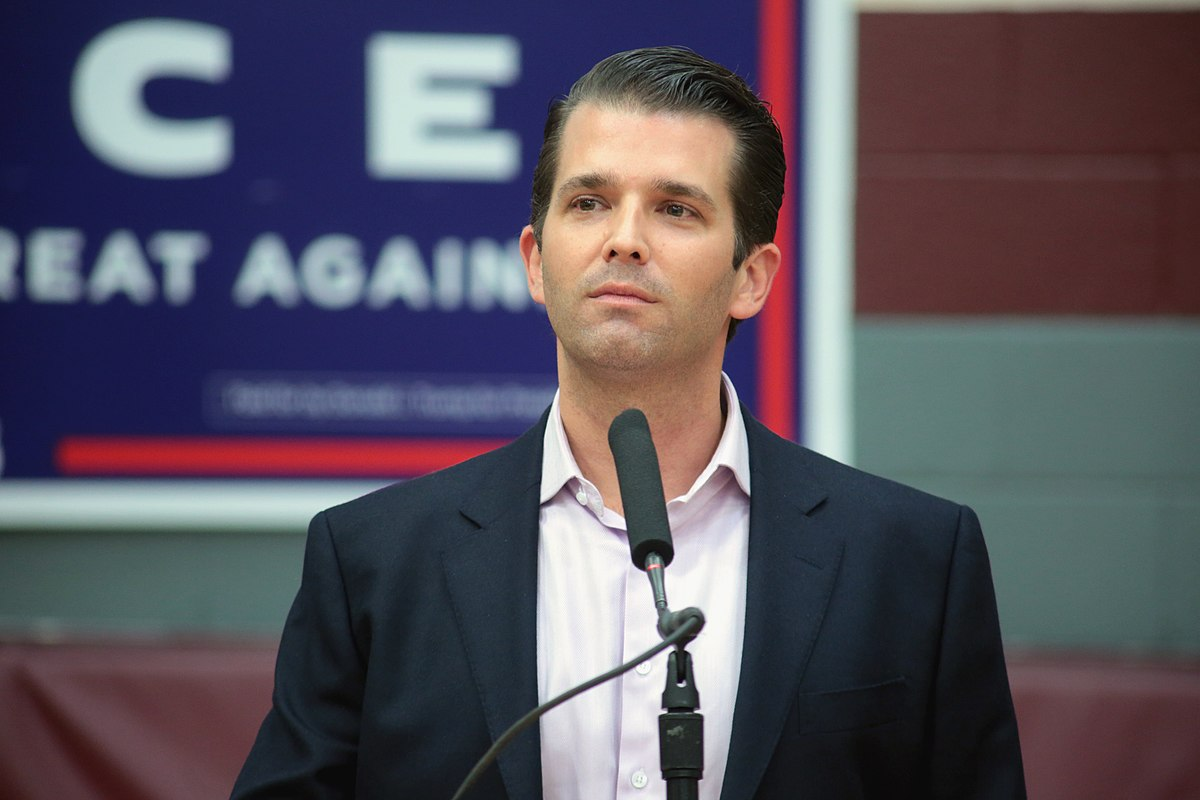 照片和他的 弟弟  Donald Trump Jr.