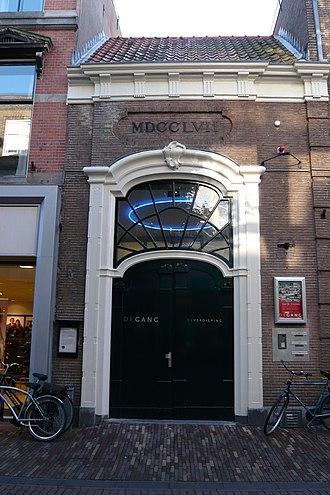 Doopsgezinde kerk, Haarlem - Entrance built in 1757 to the Doopsgezinde kerk on the Grote Houtstraat in Haarlem.