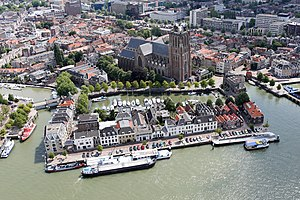 Dordrecht - Aerial photo of the city centre of Dordrecht