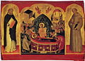 Dormition of Mary with Francis and Dominic (School of Andreas Ritzos, 15 c.) 01.jpg