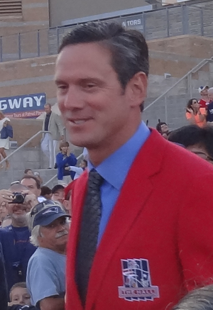 Drew Bledsoe - Bledsoe at Troy Brown's induction into  the Patriots Hall of Fame in 2012