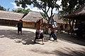 Dua Bocah Sasak Bertarung Prisean - Two Sasaknese Boys fighting at Prisean Match.jpg