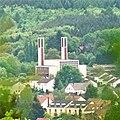 Dudweiler (Saarbrücken), view to the church St. Bonifatius.jpg