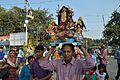 Durga Idol Immersion Procession - Baja Kadamtala Ghat - Kolkata 2012-10-24 1610.JPG