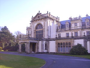 Dyffryn Gardens - North front porch of Dyffryn House