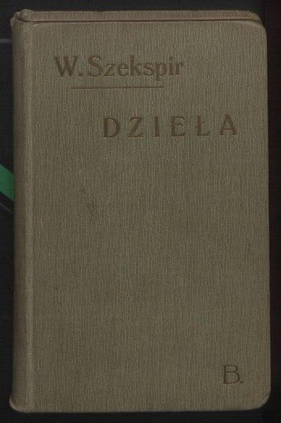 File:Dzieła Wiliama Szekspira T. II.djvu