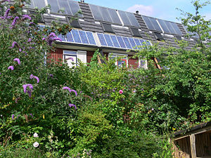 Solar power in the Netherlands - Image: E.V.A. Lanxmeer Vegetal Hedge 2009