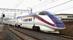 Tsubasa (train) - A reliveried E3-1000 series set on a Tsubasa service, March 2015