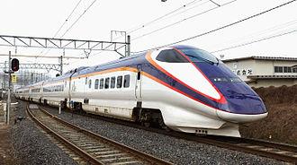Yamagata Shinkansen - An E3-1000 series train on the Yamagata Shinkansen in March 2015