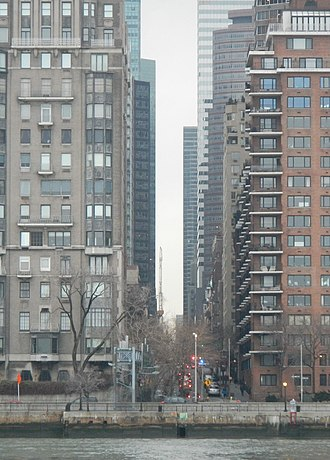 53rd Street (Manhattan) - View of 53rd from across the East River