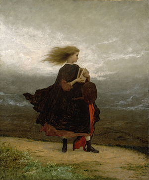 The Girl I Left Behind - The Girl I Left Behind Me, by Eastman Johnson, early 1870s