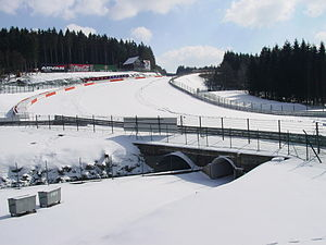 Eau Rouge nevado