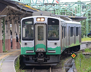Echigo Tokimeki Railway - An ET127 series EMU on the Myōkō Haneuma Line in June 2015