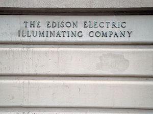 Edison Illuminating Company - The Edison Illuminating Company sign on Beacon Street in Boston, MA.