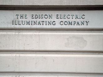 Edison Illuminating Company - The Edison Illuminating Company sign on Beacon Street in Boston, MA.
