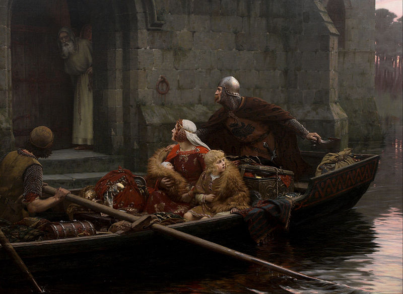 Archivo: Edmund Blair Leighton - En tiempos de peligro - Google Art Project.jpg