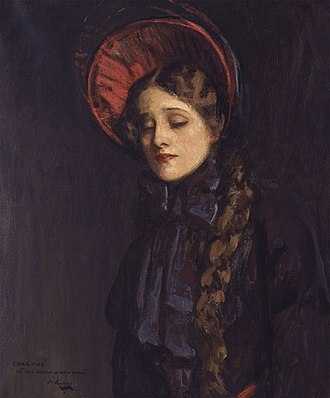 The Belle of New York (musical) - Portrait of Edna May as Violet by John Lavery