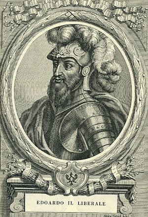 Edward, Count of Savoy - Etching by Francesco Maria Ferrero di Lavriano (1702)