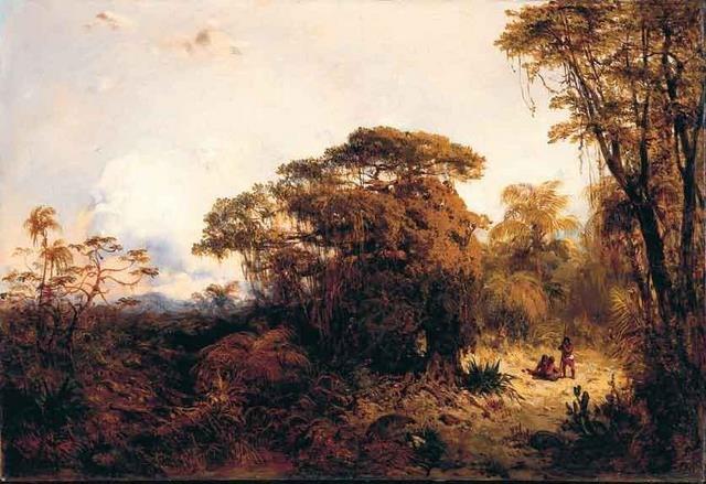 Eduard Hildebrandt - Paisagem com índios