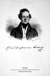Baron Eduard von Lannoy, Lithography by Josef Kriehuber, 1837 (Source: Wikimedia)