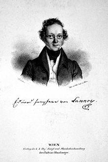 Eduard von Lannoy, Lithographie von Josef Kriehuber (Quelle: Wikimedia)