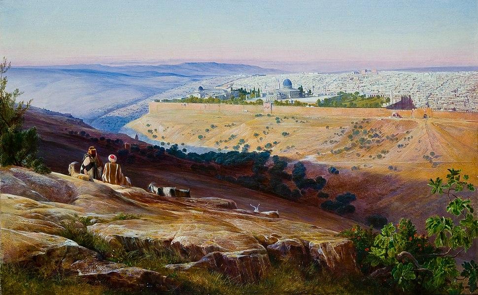 Edward Lear - Jerusalem from the Mount of Olives - Google Art Project