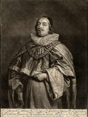 Edward Littleton, 1st Baron Lyttelton - An 18th century mezzotint of Littleton, after Van Dyck