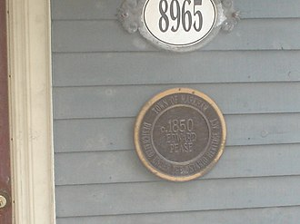 Ontario Heritage Act - Plaque on a structure in Markham, showing that the building is protected under the Act.
