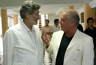 Edward Said - Said (left) with Barenboim in Seville, 2002