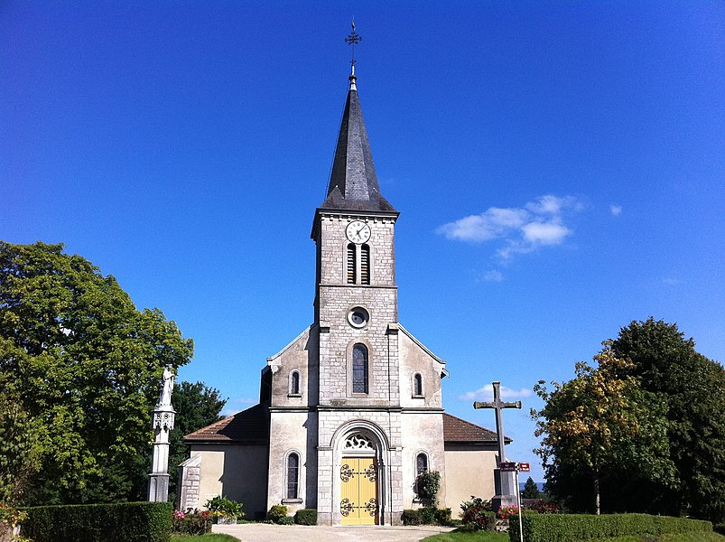 St Pancrace church in Cormoz, France