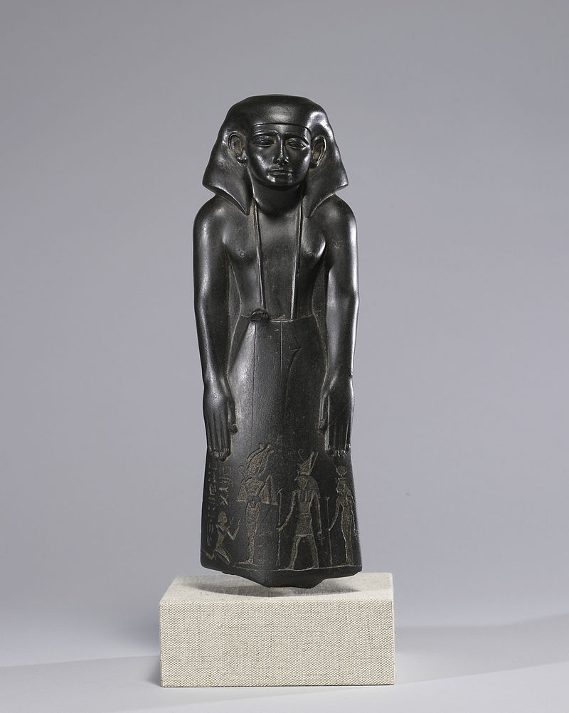 et in pulverem reverteris ayss 800px-Egyptian_-_Statue_of_a_Vizier%2C_Usurped_by_Pa-di-iset_-_Walters_22203